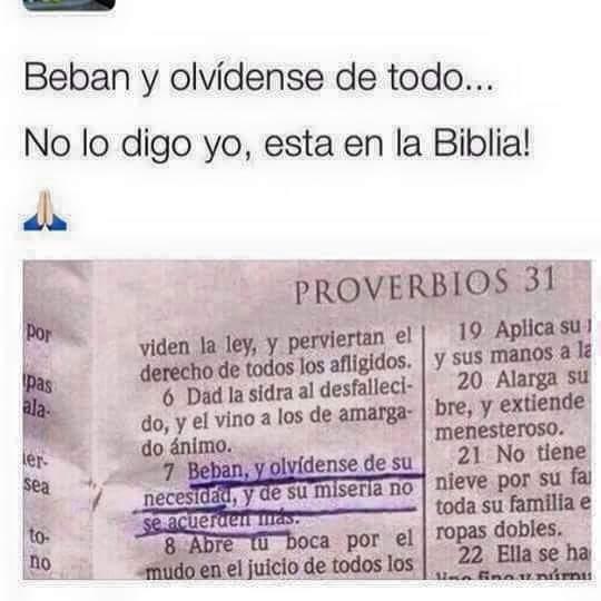 no lo digo yo, lo dice la biblia - meme