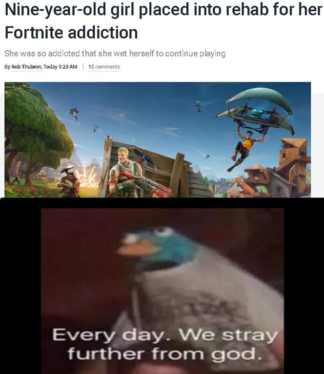 I hate fortnite - meme