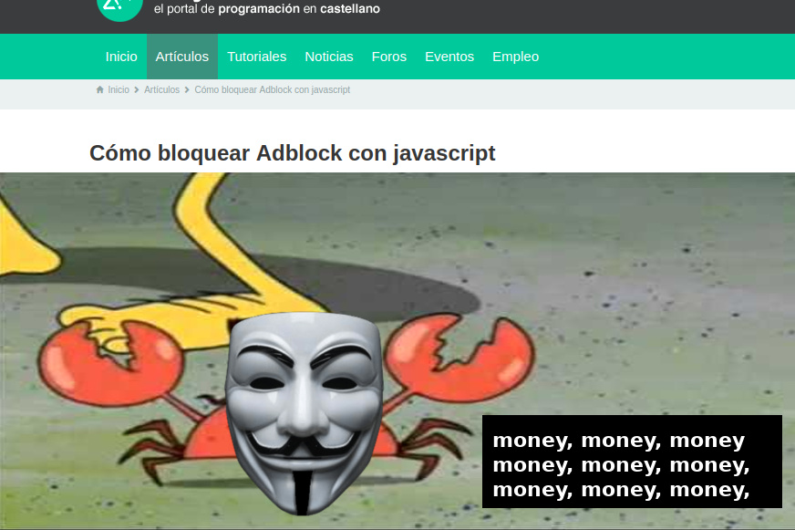 jQuery.adblock = false; - meme