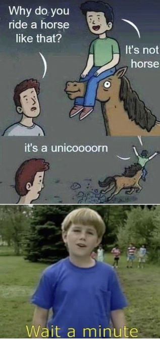 Ese no era un caballo... - meme