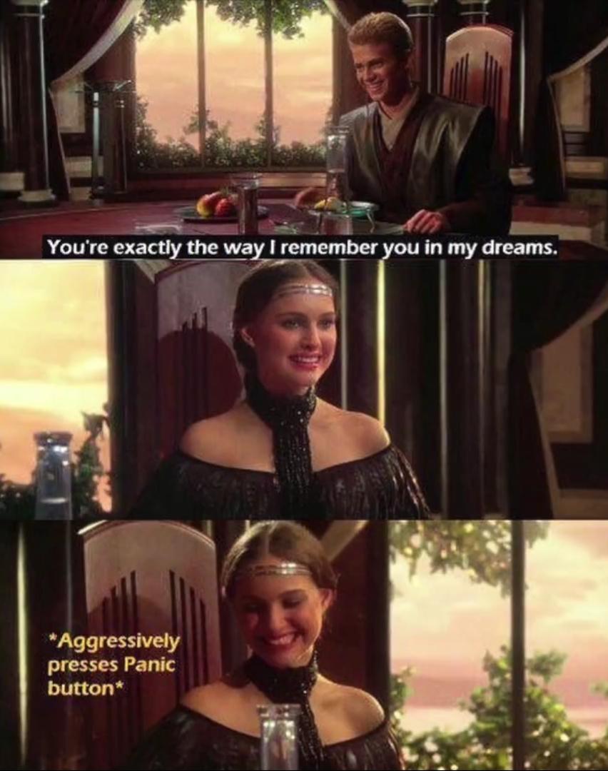 Anakin was creepy - meme