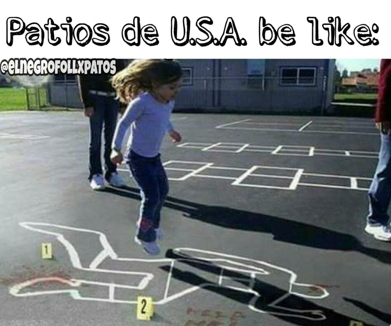 Patios de USA - meme