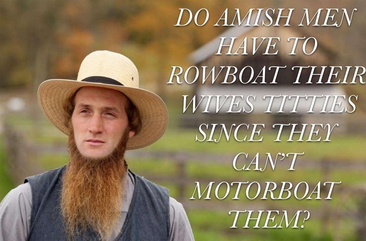 Amish replies only - meme