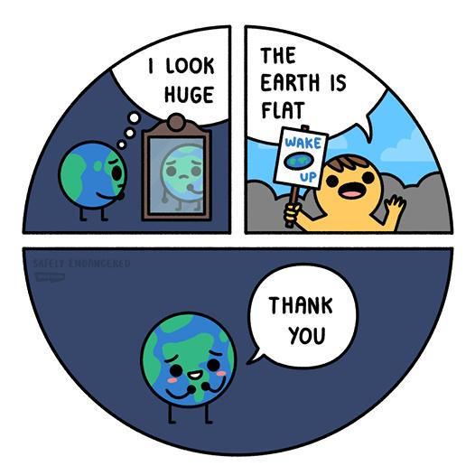 Les platisites font du bien à la Terre - meme