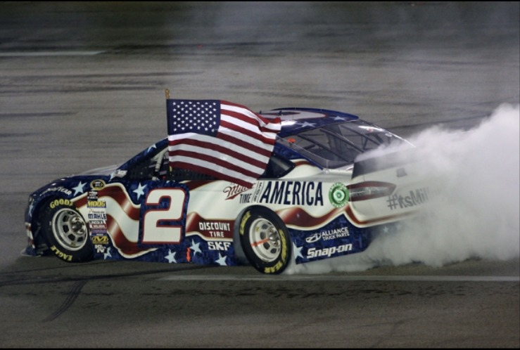 Happy fourth everyone! (Prolly one of the best burnouts in NASCAR history btw) - meme