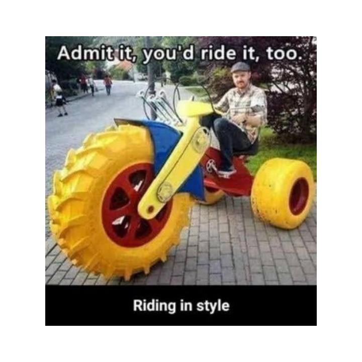 Riding style - meme