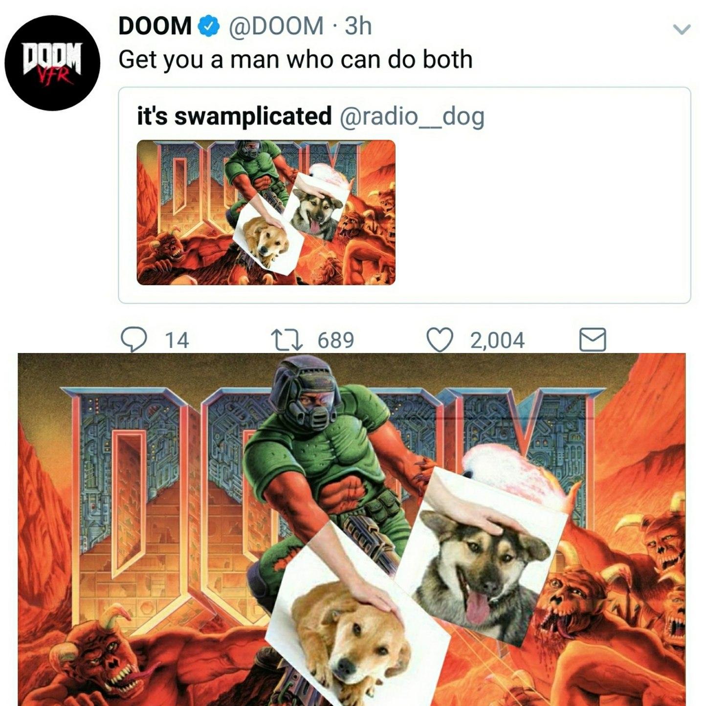 Doom petting - meme