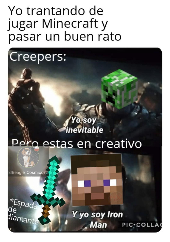 Mi primer meme de Minecraft