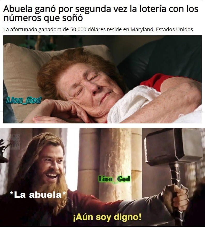 La abuela soñadora - meme