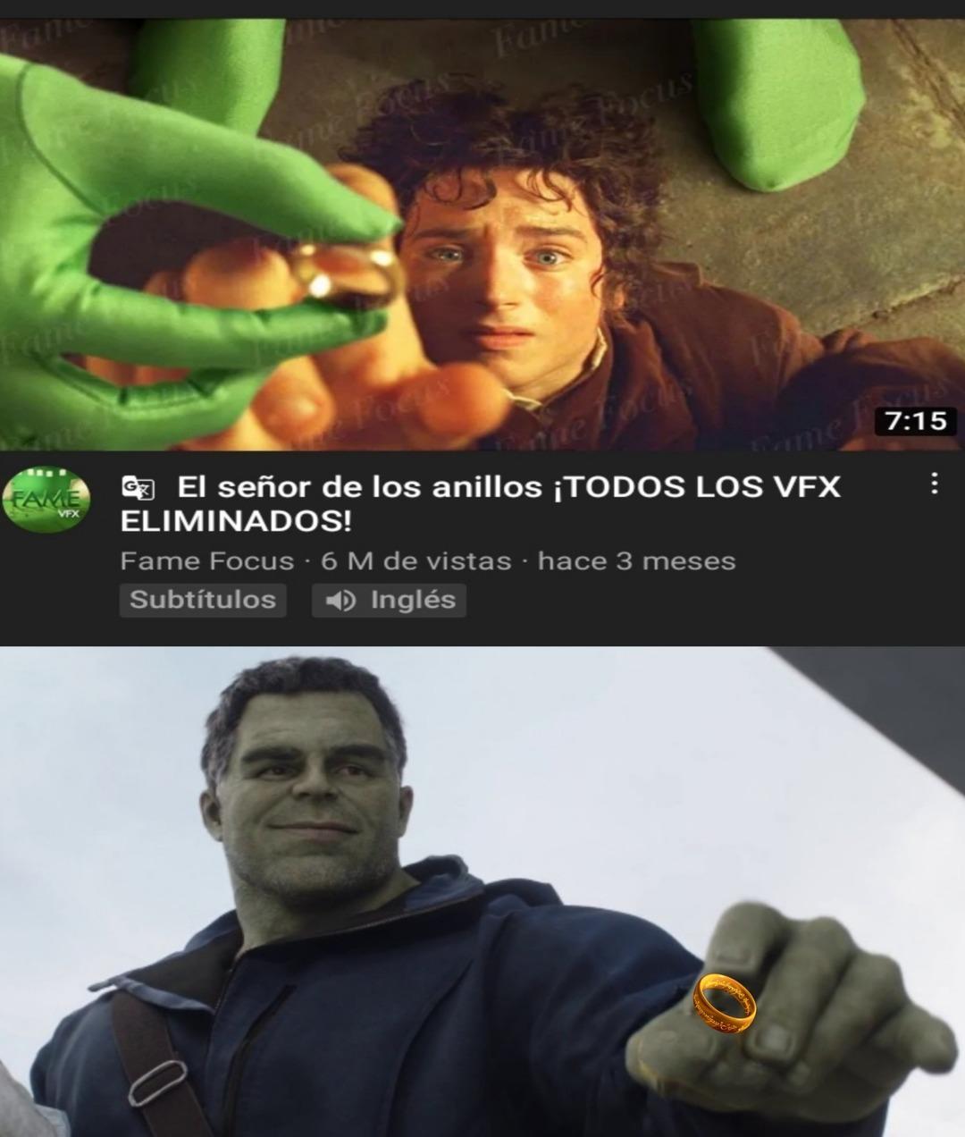 Hulk no se pone el anillo porque no le cabe en el dedo :yaoming: - meme