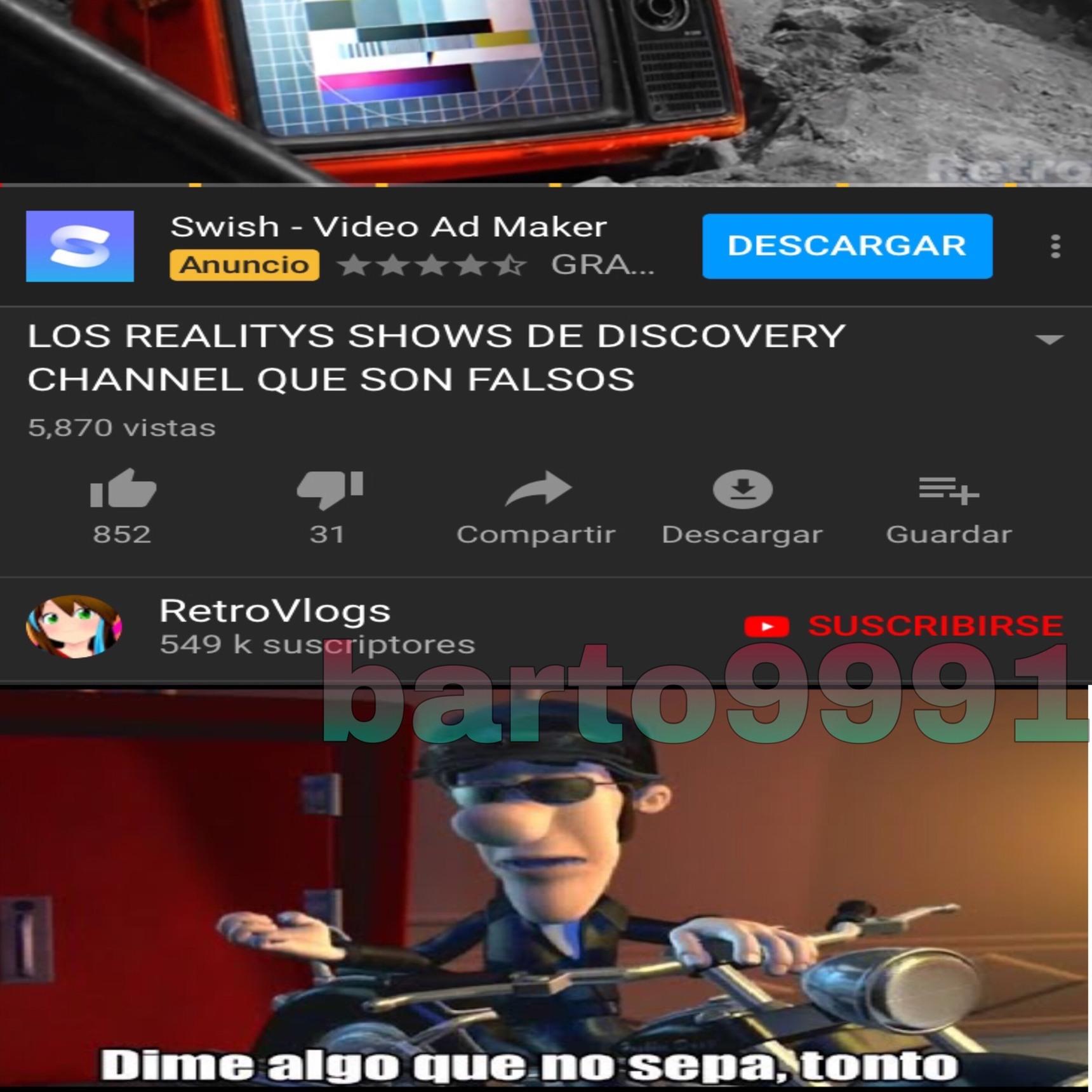 Video random de mis andanzas por el internet - meme