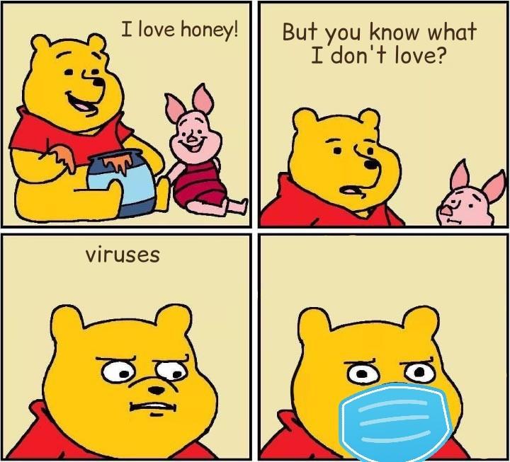 Covid bear - meme