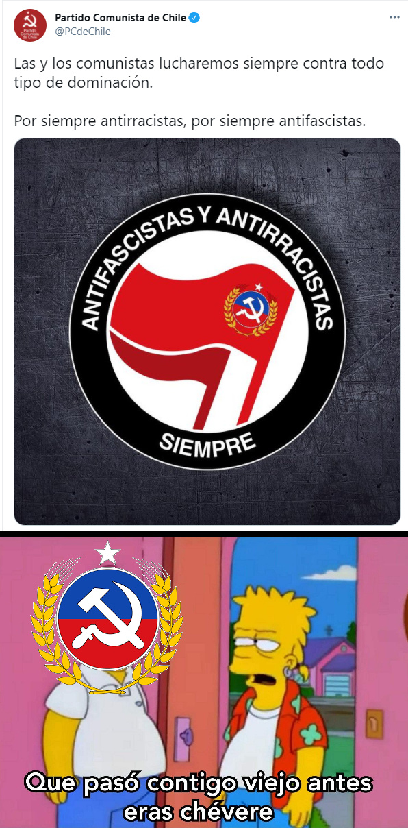El PC se volvio Antifa :( - meme