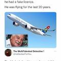 He flies solo....
