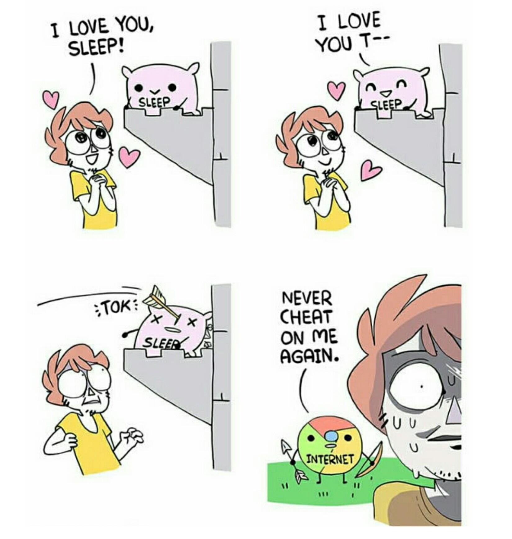 Never cheat on me again. - meme