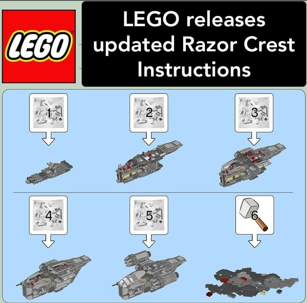 Lego instructions are the best. - meme
