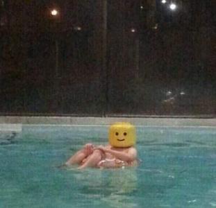 I am floating lego man notice my innocent smile - meme