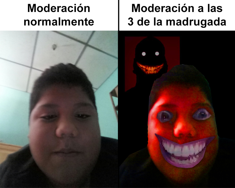 Moderando a las 3am (termina sexual) - meme