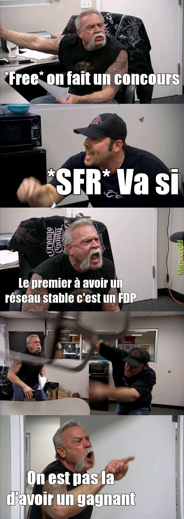 Free VS SFR - meme