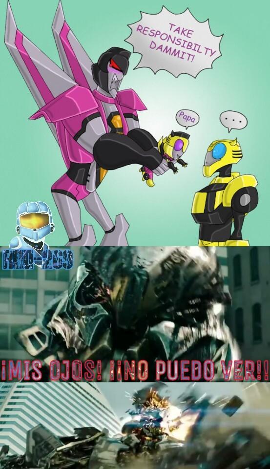 Buscando Starscream VS Bumblebee Cuando De Repente... - meme