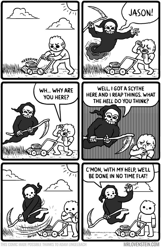 the nice grim reaper - meme