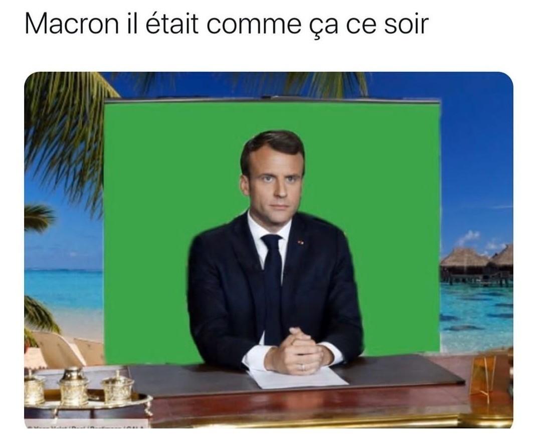 Macron il as bronzé plus que moi quand je bronzé en 1an - meme
