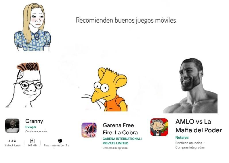 Recomienden buenos juegos móviles - meme