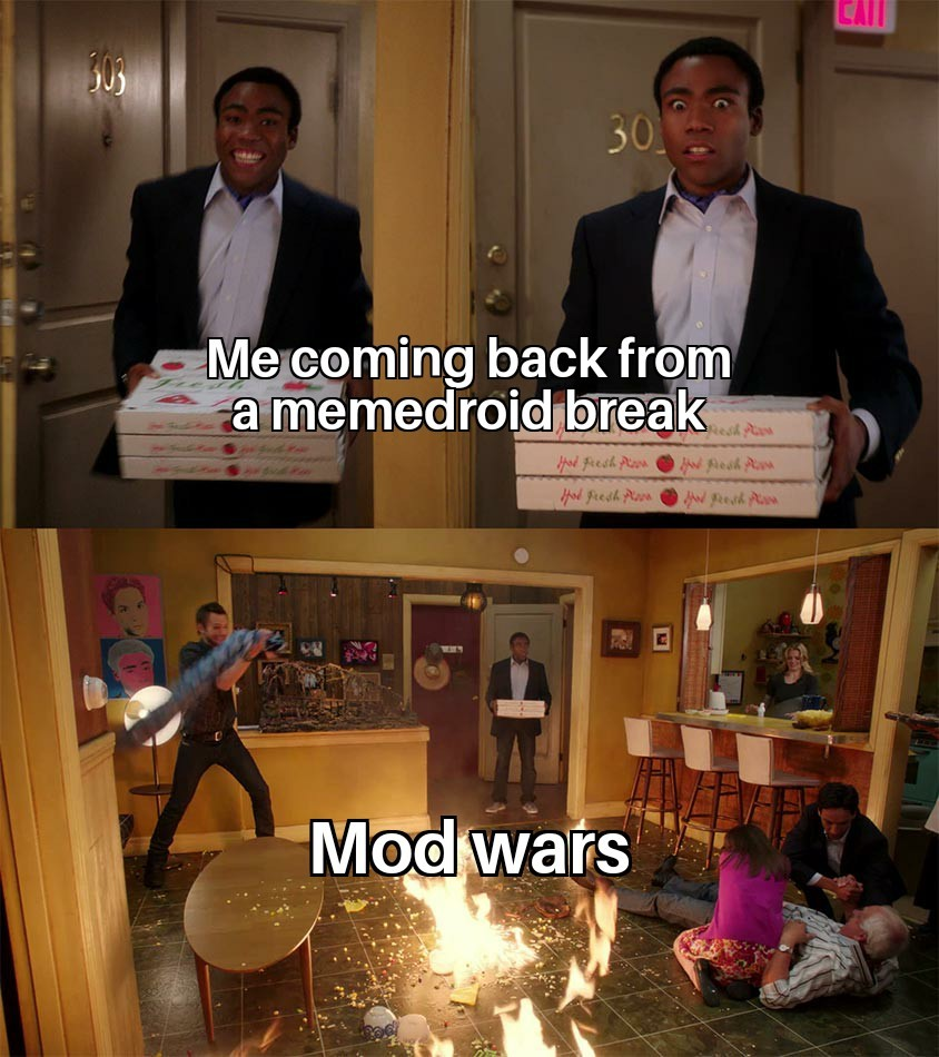 What are mod wars? - meme