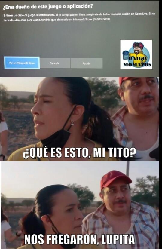 Nos fregaron Lupita - meme