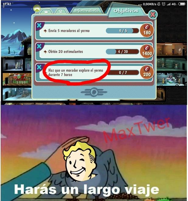Juego: Fallout Shelter, lo recomiendo - meme