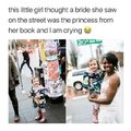 This little girl thought a bride she saw on the street was the princess from her book