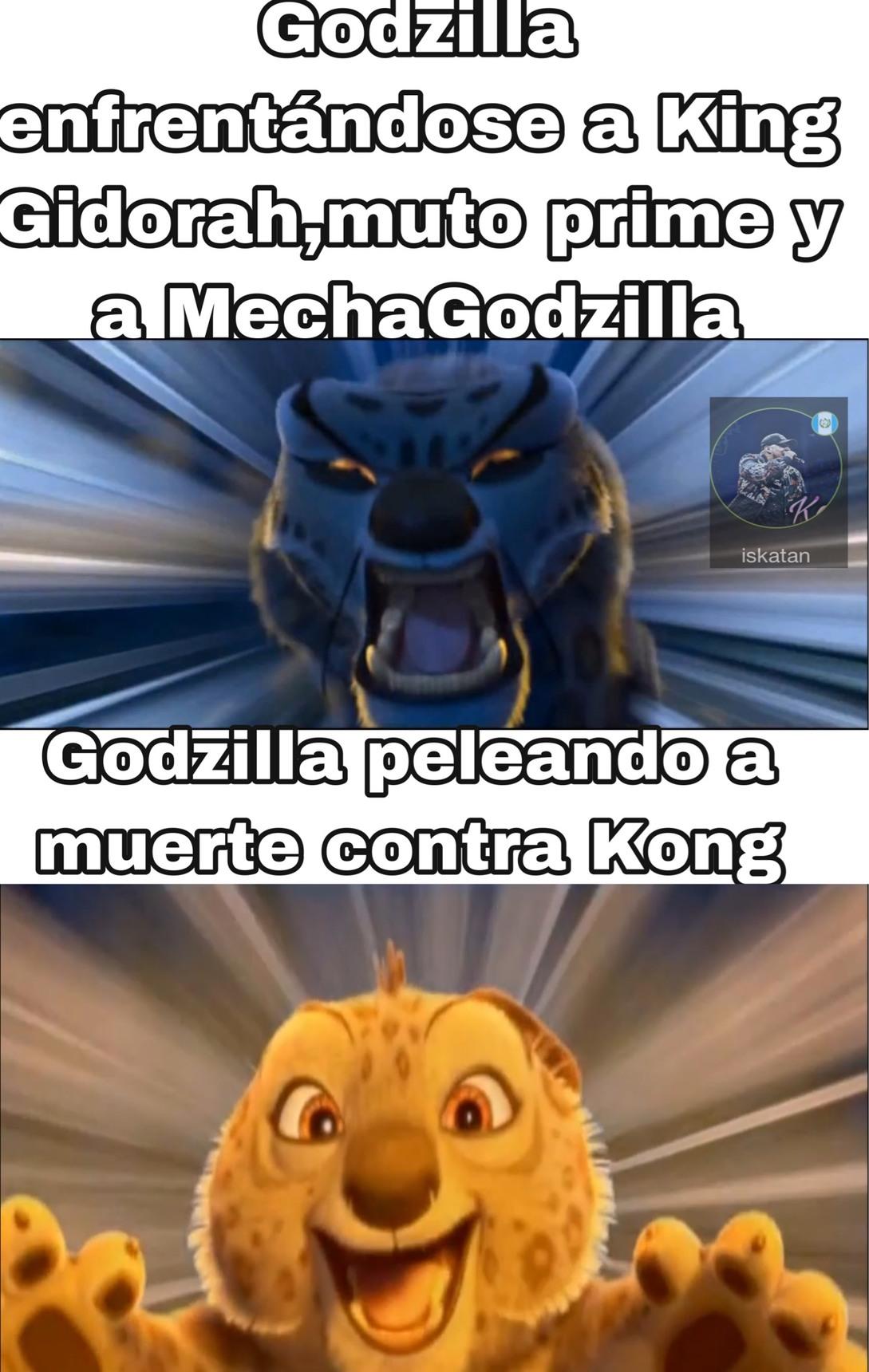 ¿Alguien me puede decir donde puedo conseguir los cómics de Kindom Kong y Dominion Godzilla en español? - meme