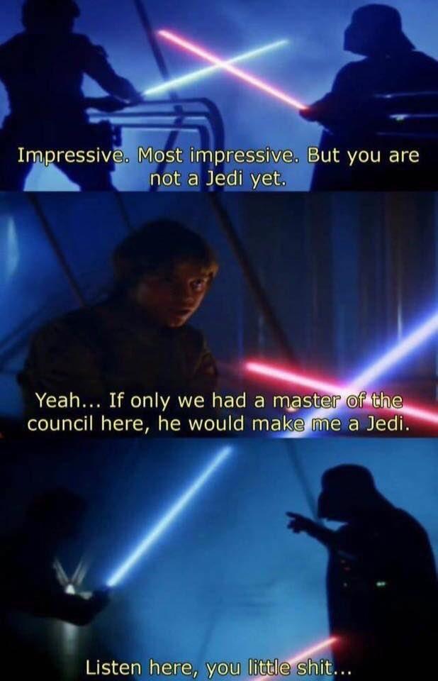 Anakin never became a jedi master... - meme