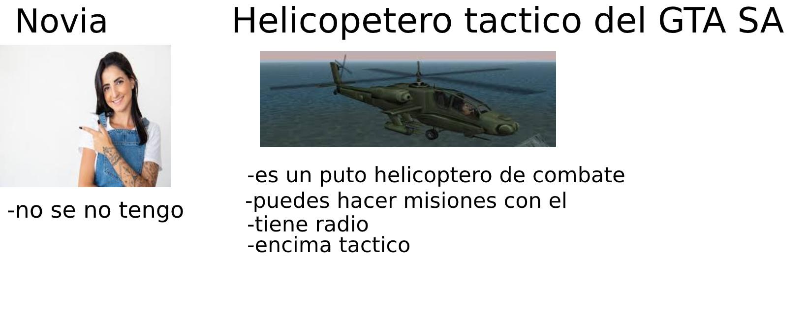 helicoptero tactico del gta sa - meme