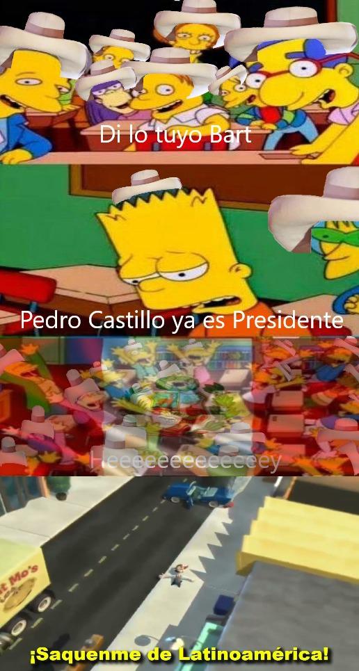 Feliz Dia de la independecia del Peru 200 AÑOS Pedro Castillo - meme