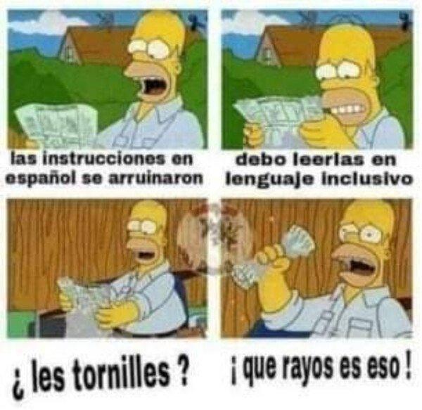 Una mierda el lenguaje inclusivo - meme