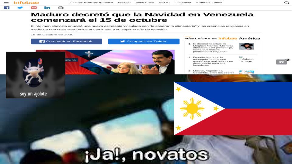 si no entienden en filipinas empiezan a celebrar la navidad en septiembre pd:ya se que la noticia es vieja apenas se me ocurrio la idea - meme
