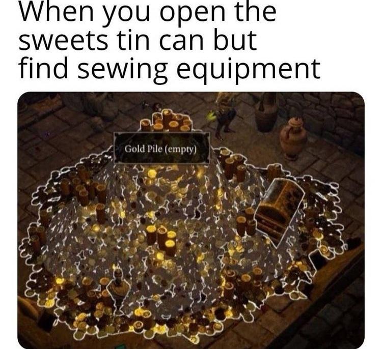 grandmas sewing kit - meme