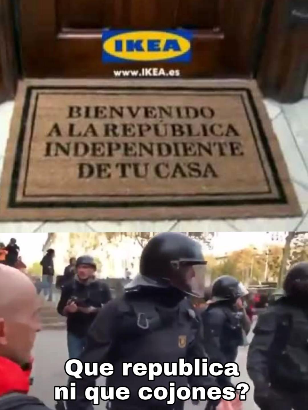 España y Cataluña en estos momentos - meme