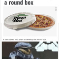 Pizza Hut is testing a round box