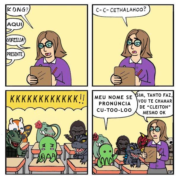 Cthulhu bully na escola - meme