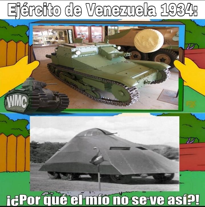Contexto: a ausencia de Blindados el gobierno ordenó fabricarlos, La tortuga fue hecha por gente sin conocimiento de blindados que esperaban, salió mejor comprar vehículos como el de arriba - meme