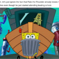 or the fact that SpongeBob's legs can go through metal