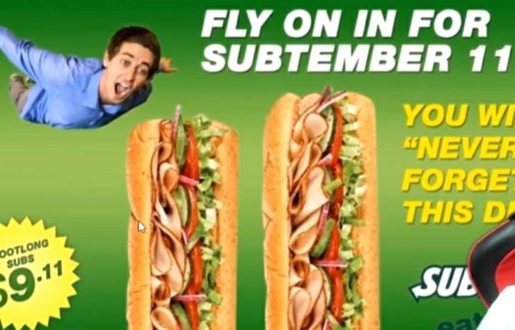 promoção Subway - meme