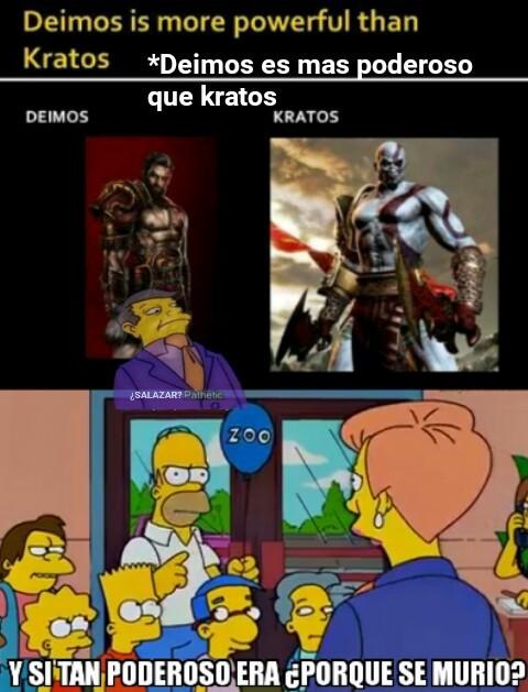 A Kratos no le gusta este meme