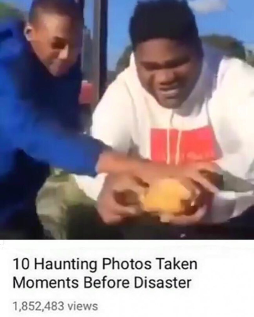 This is how you eat a big Mac Nigga - meme