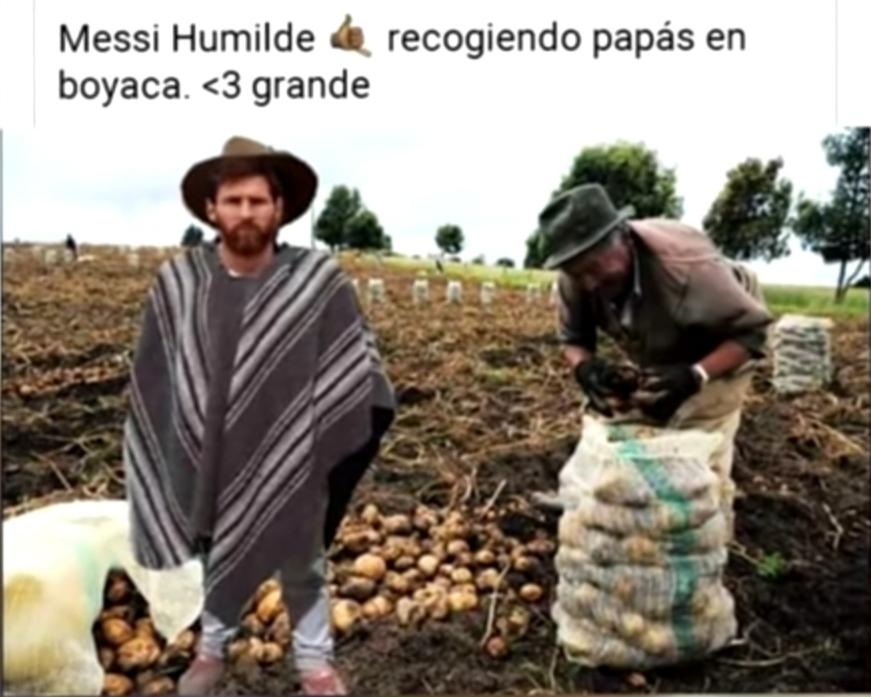 Re humilde el messi - meme