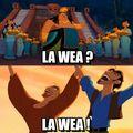 La wea, weon,  aweonao.