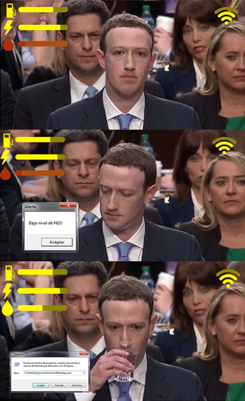 Necesita hidratarse para mantener bien el traje de ser humano - meme