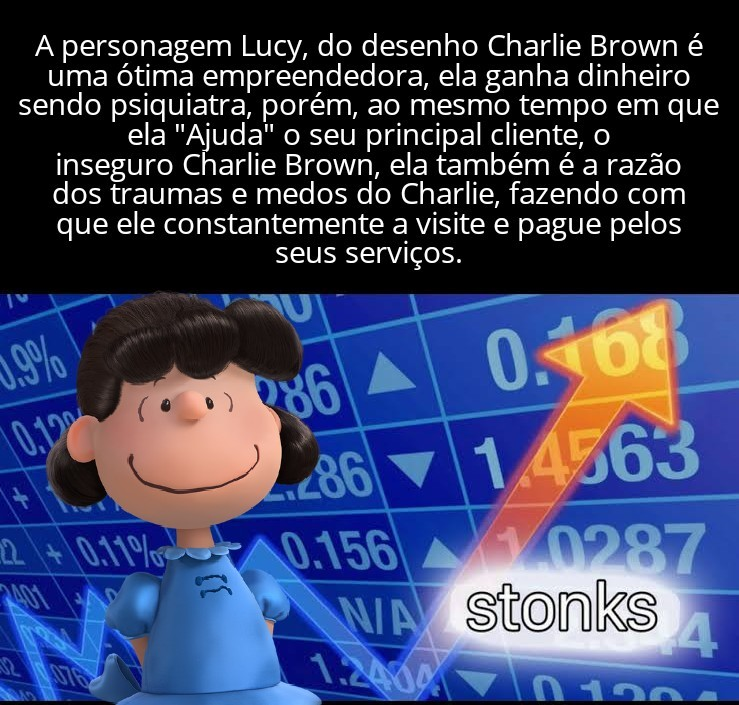 Fiz⁶⁶, Lucy é a personagem mais fdp do desenho do Snoopy. - meme